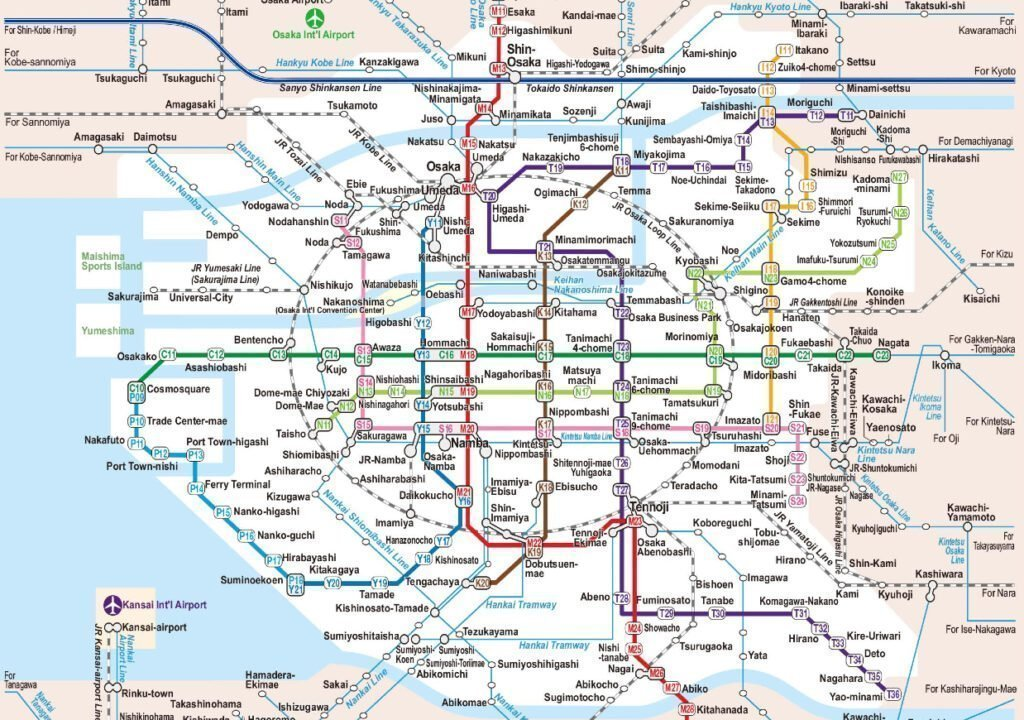Osaka Şehir Haritası