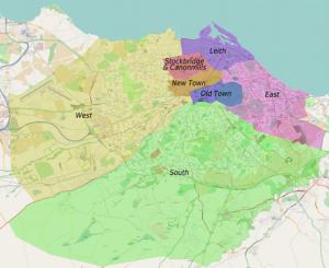 Edinburg Haritası - Edinburg Gezi Rehberi