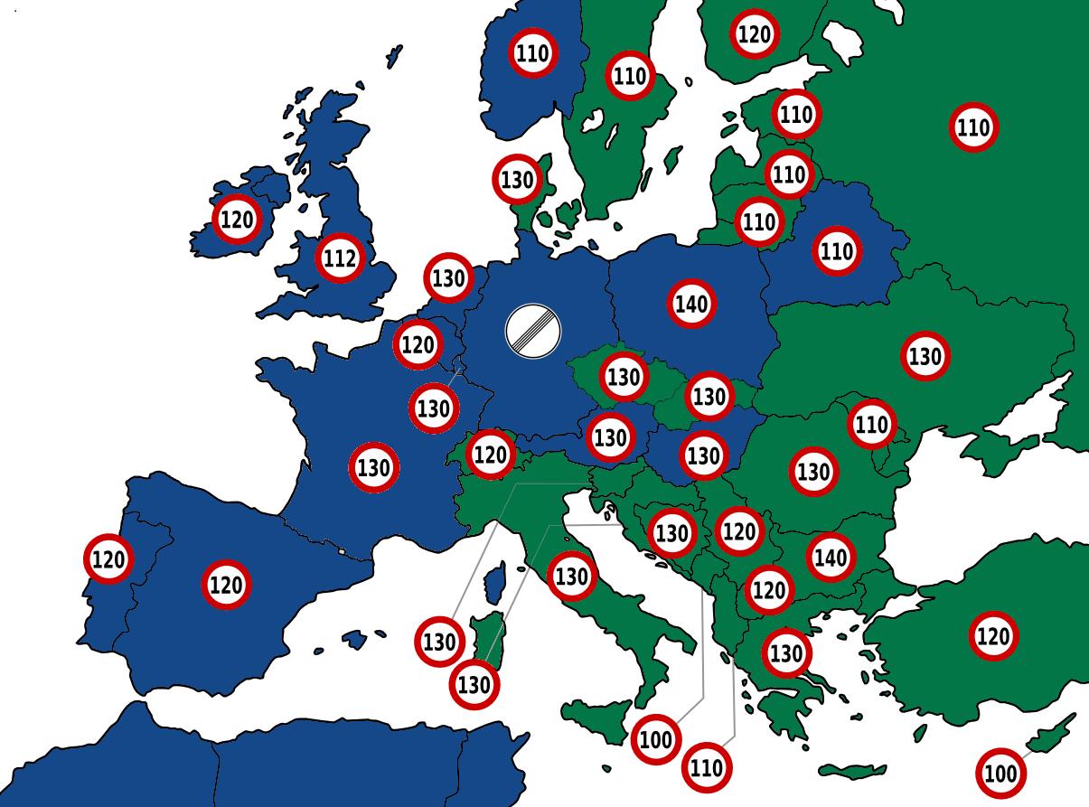 Avrupa hız Limitleri
