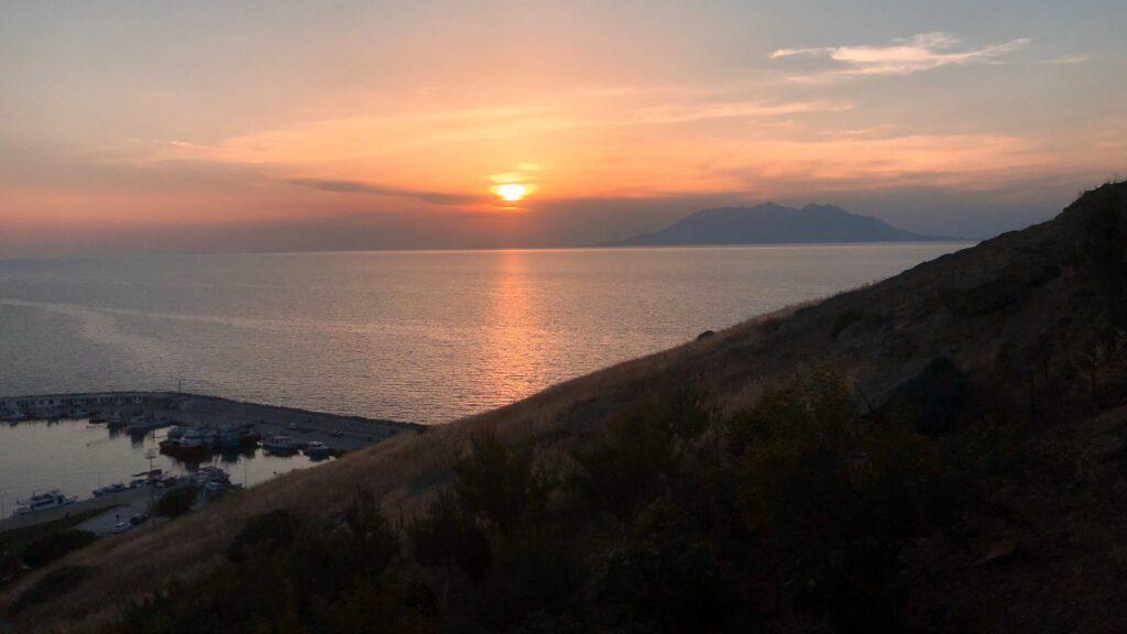 Kaleköy gün batımı - Gökçeada'da Kamp