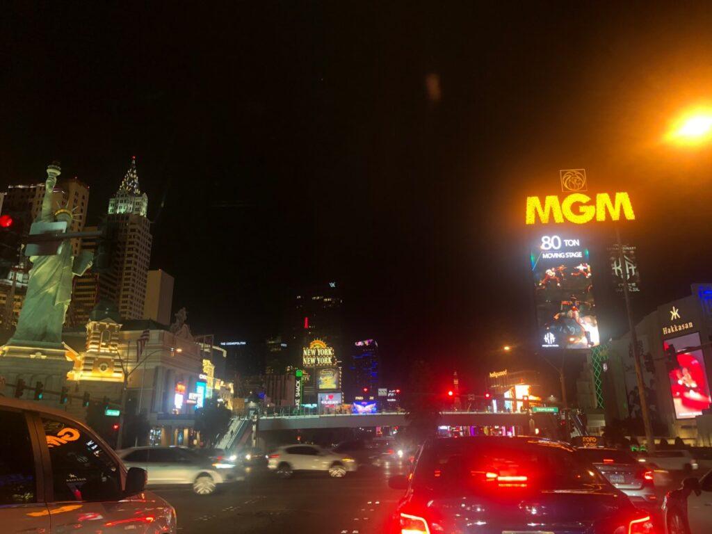 Strip bölgesi gece görünüş