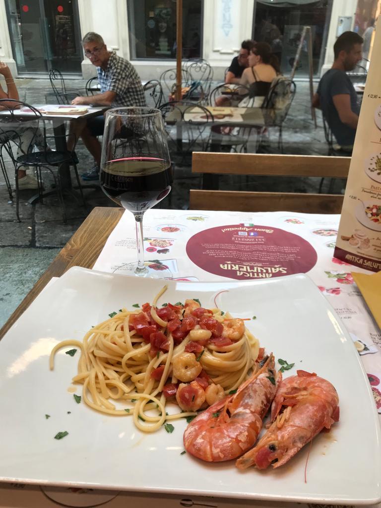 Seafood Linguine - Antica Salumeria - Torino, İtalya