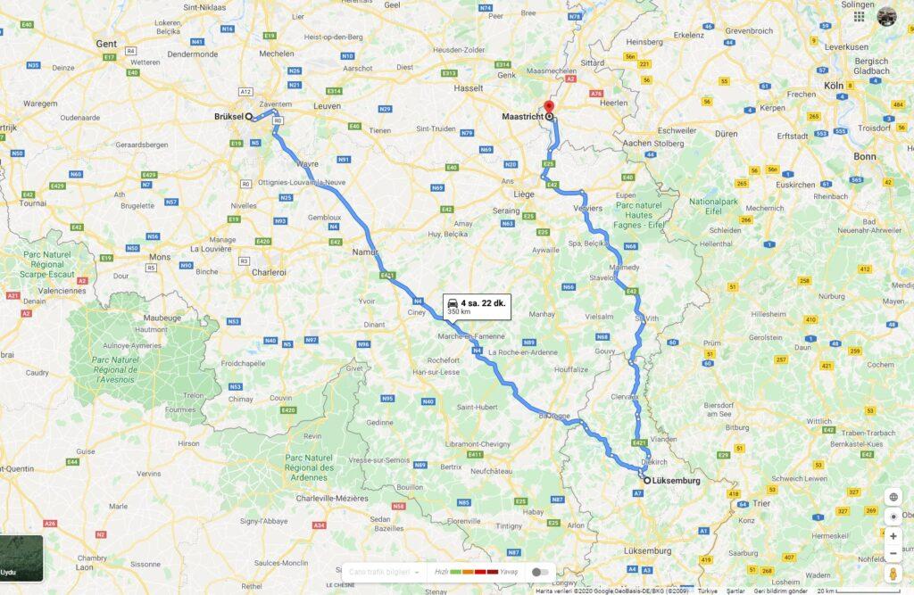 Benelüks Rotası / Bruksel - Luksemburg - Maastricht