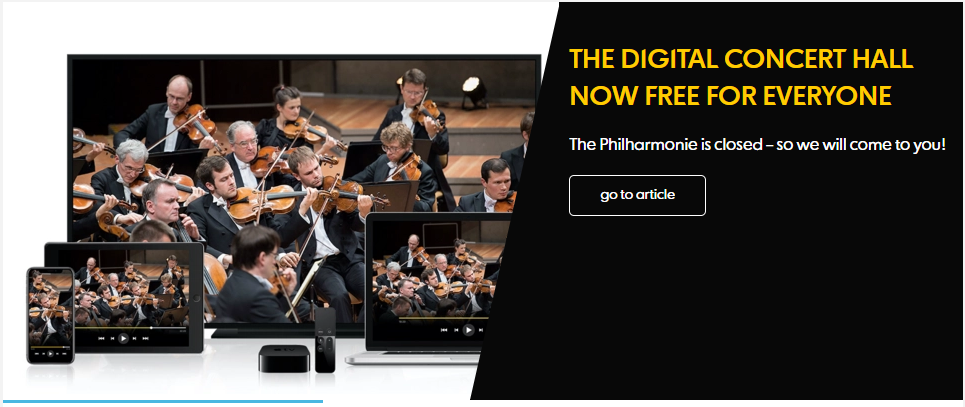 The Philharmonie Berlin - Karantinada Sanat