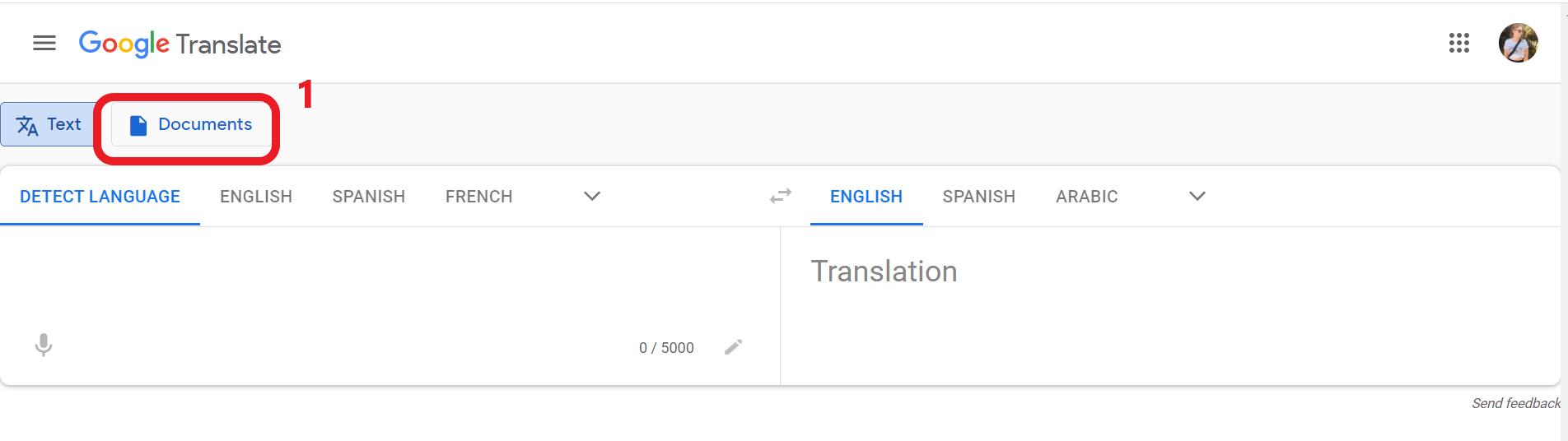 Google Translate - Dokümanları Farklı Bir Dile Çevirme
